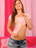 Coed Hottie Abby Lexus Spreads Her Legs Wide Open To Exposed Her Pink Pussy On The Couch - Picture 2