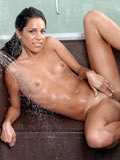 Sexy Alana G Showers Down Her Petite Body And Mildly Hand Strokes Her Tight Juicebox - Picture 13