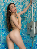 Nubiles.net Allura - Gorgeous brunette gets hot and wet in the shower teasing her twat