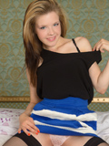 Beautiful Blonde With Big Puffy Nipples Spreads Open Her Juicy Pink Pussy - Picture 3