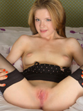 Beautiful Blonde With Big Puffy Nipples Spreads Open Her Juicy Pink Pussy - Picture 11