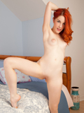Hot Redhead Amarna Miller Strips Off Her Shorts And Spreads Her Shaved Pussy - Picture 13