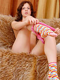 Amina So Naughty On Couch Takes Off Her Clothes And Shows Fresh Pussy - Picture 7