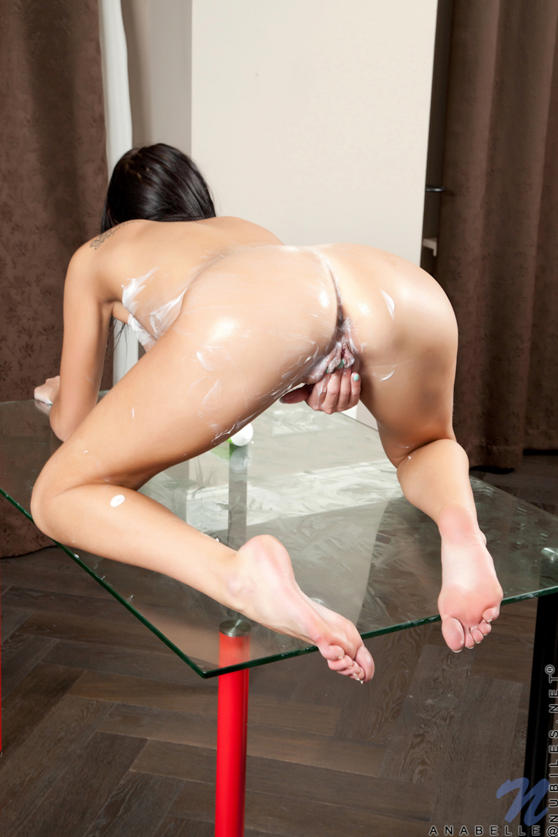 Naughty College Girl Lathers Up In Lotion For A Slippery Finger Fuck - Picture 13
