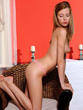 Nubiles.net Angel Hott - Amateur teen strips before sticking a candle deep in her Nubile pussy
