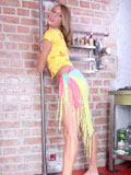 Anny Gracefully Models Her Smooth Slender Body As She Leans On The Wall - Picture 3