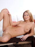 Topless Teen Amateur Antonyia Posing Off Her Juicy Boobs On Top Of The Center Table - Picture 12