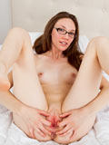 Glamorous Babe Aria Amor Masturbates With A Purple Dildo - Picture 9