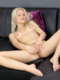 Horny Blonde Nubile Finger Fucks Her Sweet Creamy Twat - Picture 13