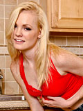 Naughty Nude Blonde Teen Shows Off Her Tempting Ass In The Kitchen - Picture 2