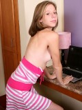 Chastity Proud To Pose While Stripping And Teasing Perfectly - Picture 1