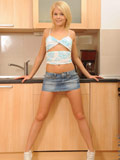 Lovely Cherry Pink Gets Naughty In The Kitchen Strips Her Skirt As She Exposes Her Tits And Pussy - Picture 2