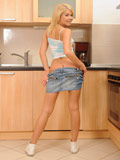 Lovely Cherry Pink Gets Naughty In The Kitchen Strips Her Skirt As She Exposes Her Tits And Pussy - Picture 8