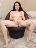 Nubiles.net Clarissa - Playful coed shoes off her sexy legs uses her fingers to please her soggy twat