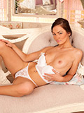 Playful Coed Crystal Star Naughtily Taunts Us With Glimpses Of Her Shaved Pussy - Picture 8