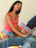 Alluring Nubile Emy Gets Deeply Banged By A Stud On Her Bed And Takes A Cum Explosion - Picture 1
