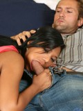 Alluring Nubile Emy Gets Deeply Banged By A Stud On Her Bed And Takes A Cum Explosion - Picture 3