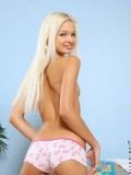 Long Haired Nubile Franziska Gets Naked And Gently Fingers Her Tight Pink Snatch On The Sofa - Picture 7