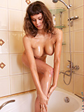 Nubiles.net Gala - Gorgeous babe Gala takes a warm wet shower near freshen up her shaved pussy