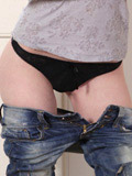Nubiles.net Ginger Sweets - Long haired siren takes off her jeans and gives herself a sweet finger fuck
