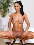 Nubiles.net Isabella Chrystin - Sexy hotty next door spreads her legs wide open showing off her soft shaved fuckhole