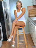 Sexy Beautiful Teen Hottie Goes For Short Vibrator Masturbation While She Hangs Out At The Kitchen - Picture 2