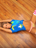 Gorgeous Teen Temptress Lying On The Floor Decides To Get Naked And Play With Her Blue Rabbit Toy - Picture 4