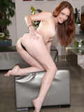 Ultra Hot Redhead Fondles Her Soaking Wet Pink Pussy - Picture 8