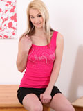 Horny Nubile Katerina Gold Fingers Her Puffy Creamy Pussy - Picture 1