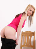 Horny Nubile Katerina Gold Fingers Her Puffy Creamy Pussy - Picture 5