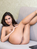 Nubiles.net Katy P - Horny babe with long sexy hair tickles her soft smooth-faced pussy until she drips