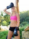 Nubiles.net Keithy - After will not hear of boxing workout Keithy takes off will not hear of clothes and spreads will not hear of pussy