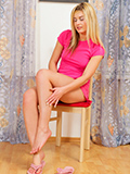 Gorgeous Blonde Kelly Candy Slips Off A Mini Skirt And Fingers Her Needy Pussy - Picture 1