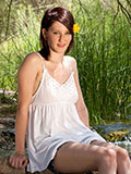 Luscious Amateur Babe Is Not Ashamed To Spread Her Pink Pussy Outdoors - Picture 1