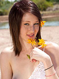 Luscious Amateur Babe Is Not Ashamed To Spread Her Pink Pussy Outdoors - Picture 15