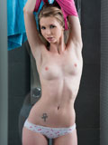 Hot Babe Freshens Up Her Horny Pussy In The Shower - Picture 3