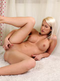 Beautiful Blonde Laila Spreads Her Pussy And Dips Her Fingers Inside - Picture 14