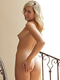 Nubile Lilly Banks Loves It As She Drills Her Pussy With The Vibrator On The Stairs - Picture 9