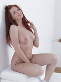 Horny Hot Babe Stuffs Her Shaved Pussy With Her Fingers - Picture 15
