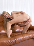 Stunning Skinny Coed With Long Blonde Hair Gives Her Horny Twat A Finger Fuck - Picture 14