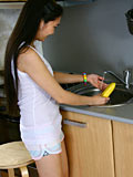 Nubiles.net Natalya - Natalya pours milk on her body and uses a banana to pleasure herself