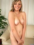 Coed Teen Pinches Her Busty Tits And Flashing Her Tight Pink Cunt On The Couch - Picture 14