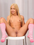 Naughty Blonde Nomi Melone Stuffs Her Fingers Deep Inside Her Shaved Pussy - Picture 6