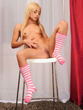 Naughty Blonde Nomi Melone Stuffs Her Fingers Deep Inside Her Shaved Pussy - Picture 8