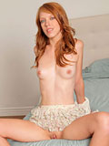 Naughty Nubile Pepper Kester Drills Her Shaved Pussy With A Dildo - Picture 12