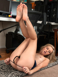 Nubiles.net Rachel James - Horny hottie ginger procreates her soft smooth twat until she squirts