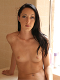 Sexy Brunette Sabrina Banks Pounds Her Naughty Twat With A Dildo - Picture 1