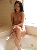 Sexy Brunette Sabrina Banks Pounds Her Naughty Twat With A Dildo - Picture 15
