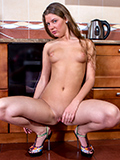 Hot Nymph Gets Sticky After Fucking Her Creamy Twat With A Banana - Picture 8