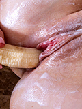 Hot Nymph Gets Sticky After Fucking Her Creamy Twat With A Banana - Picture 15